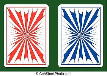 Playing cards back abstract design vector illustration ...