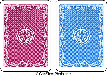 Playing Card Backs.eps - Red and blue cards back. Original...
