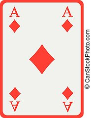 Playing card diamond ace