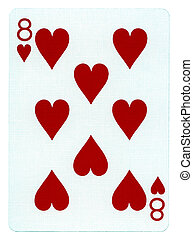 Playing Card - Eight of Hearts