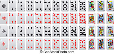 playing card - complete playing poker card set in vector