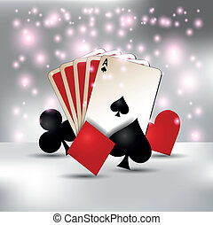 playing card - bokeh, playing cards and symbols. eps 10...