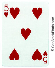 Playing Card - Five of Hearts