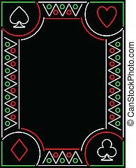 playing card frame