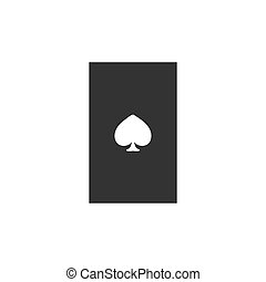 Playing card icon flat
