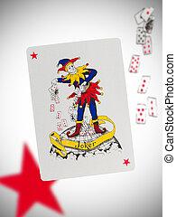 Playing card, joker