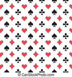 Playing Card Seamless Pattern
