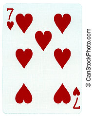 Playing Card - Seven of Hearts