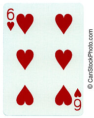 Playing Card - Six of Hearts