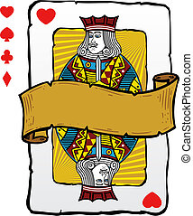 Playing card style Jack illustration