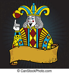 Playing card style Joker illustration. Vector format fully...