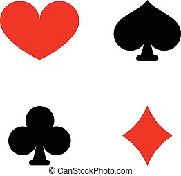 Playing Card Suit Symbols - Playing Card Suit Symbol Vector...