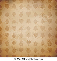Playing card suits background