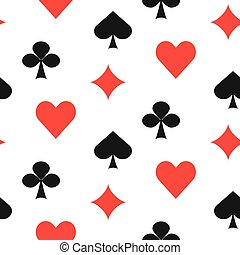 Playing card suits seamless pattern.