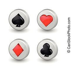 Playing card symbol icons