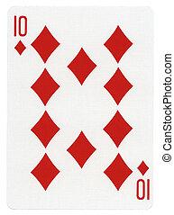 Playing Card - Ten of Diamonds - Ten of diamonds playing ...