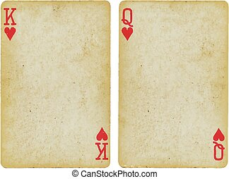playing card - Background, object: Playing Card: King and...