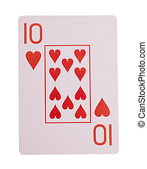 playing, cards, -, 10, of, hearts