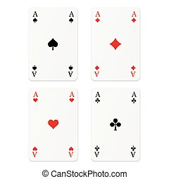 Playing cards - 4 Aces
