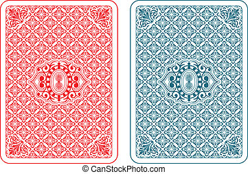 Playing cards back beta - Playing cards back two colors