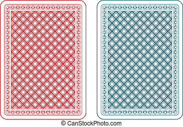 Playing cards back epsilon - Playing cards back two colors