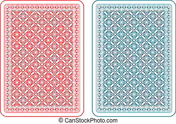 Playing cards back gamma - Playing cards back two colors