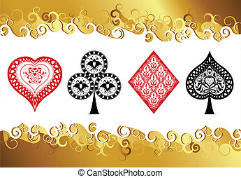 playing-cards composition