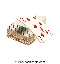 Playing cards deck cartoon icon