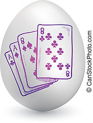 Playing cards egg