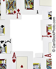 Playing cards frame