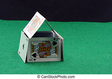 playing cards house