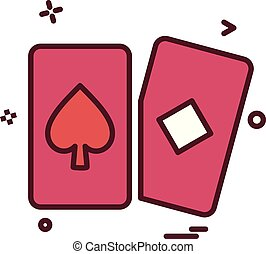playing cards icon vector design