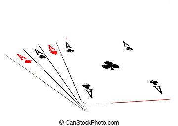 Poker of aces - Playing cards on a white background. Poker ...
