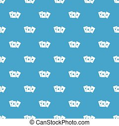 Playing cards pattern seamless blue
