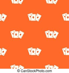 Playing cards pattern seamless