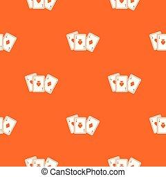 Playing cards pattern seamless