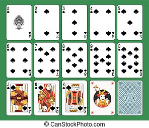 Playing Cards Spades Suit