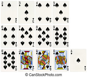 Playing Cards - Spades Suit - The complete set of spades...