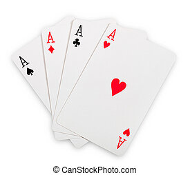 playing cards - Playing cards isolated on white background....