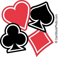Playing cards Suits spades hearts diamonds clubs