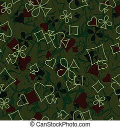 Playing cards symbols seamless pattern
