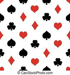 playing cards symbols set seamless pattern eps10