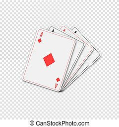 Playing cards, vector illustration.
