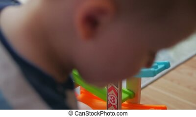 Playing cars on potty childrens room home interior