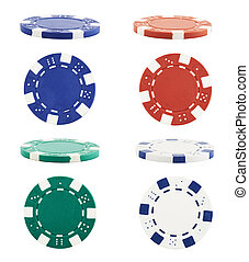 Playing casino chips isolated