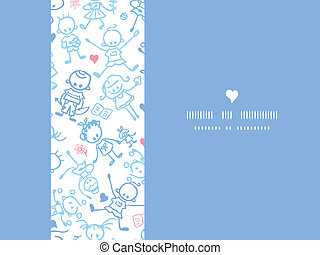 Playing children horizontal seamless pattern background