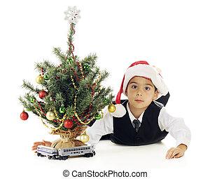 Playing Christmas Train