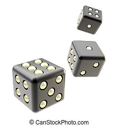 Playing dices isolated on white