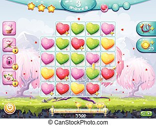 playing field on the theme of Valentines Day