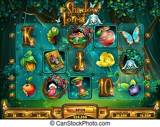 Playing field slots game for game user interface